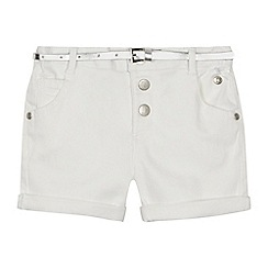 J by Jasper Conran - Girls' white denim shorts
