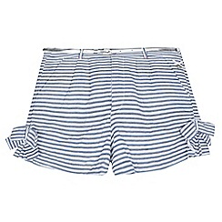 J by Jasper Conran - Girls' navy striped shorts
