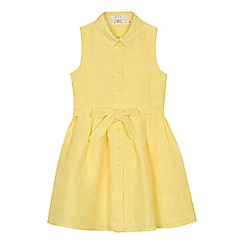 J by Jasper Conran - 'Girls' yellow burn out flower shirt dress