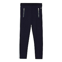 J by Jasper Conran - Girls' navy side panel zip leggings