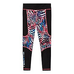 Pineapple - Girls' black printed leggings