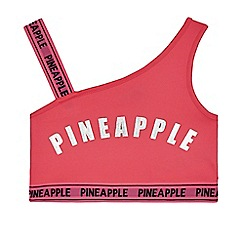 Pineapple - Girls' pink one shoulder crop top