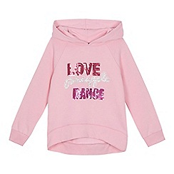 Pineapple - 'Girls' pink sequin embellished long sleeve hoodie