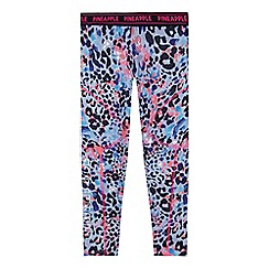 Pineapple - Girls' multi-coloured animal print leggings