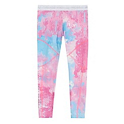 Pineapple - 'Girls' pink and blue marble print leggings