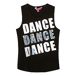 Pineapple - Girls' black sequinned 'Dance' print vest top
