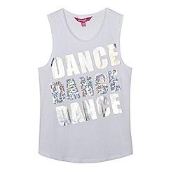 Pineapple - Girls' white sequinned 'Dance' print vest top