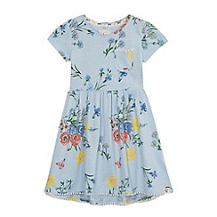 Mantaray - Girls' light blue floral print dress