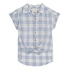 Mantaray - 'Girls' blue checked shirt