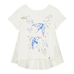 Mantaray - 'Girls' white swallow print t-shirt