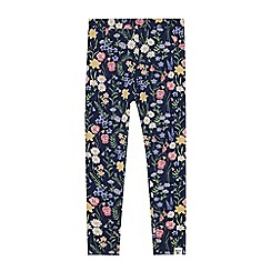 Mantaray - Girls' blue floral print leggings