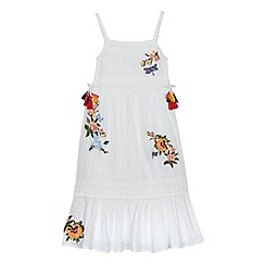 Mantaray - 'Girls' white floral embroidered maxi dress