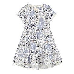Mantaray - 'Girls' white butterfly print dress