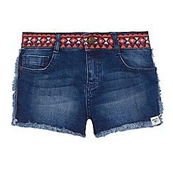 Mantaray - 'Girls' blue denim shorts
