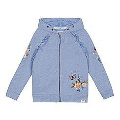 Mantaray - 'Girls' blue floral embroidered sweater