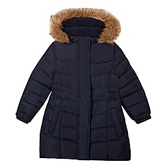 bluezoo - Girls' navy padded shower resistant coat