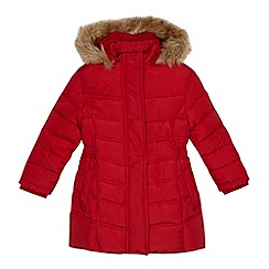 bluezoo - Girls' red shower resistant coat