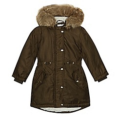 bluezoo - Girls' khaki shower resistant parka