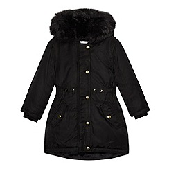 bluezoo - Girls' black shower resistant parka coat