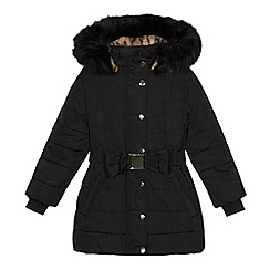 bluezoo - Girls' black parka coat