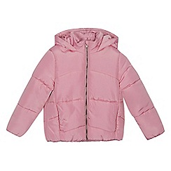 bluezoo - Girls' bright pink puffer jacket