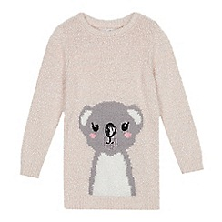 bluezoo - Girls' Pink Koala Embroidered Tunic Jumper