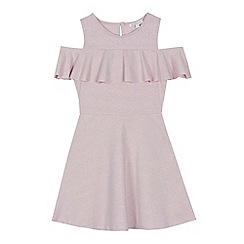 bluezoo - 'Girls' pink cold shoulder dress