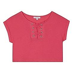 bluezoo - 'Girls' pink lattice t-shirt