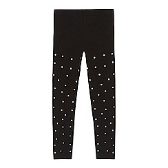 bluezoo - 'Girls' black spotted leggings