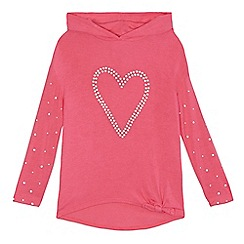 bluezoo - Girls' pink pearl embellished top