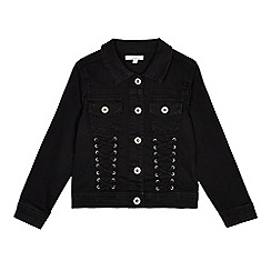 bluezoo - Girls' black lace detail denim jacket