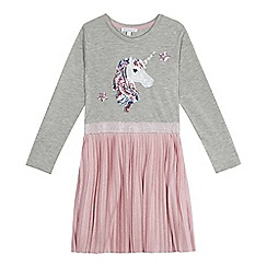 bluezoo - Girls' grey sequinned unicorn dress