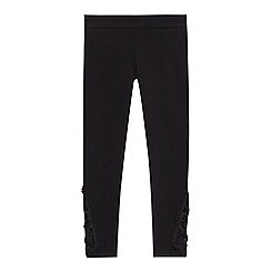 bluezoo - 'Girls' black lace trim leggings