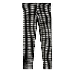 bluezoo - Girls' black checked leggings