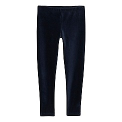 bluezoo - Girls' navy velour leggings