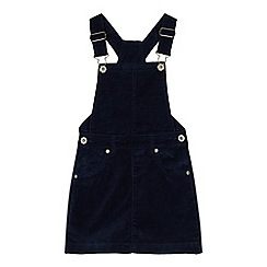 bluezoo - Girls' navy cord pinny dress