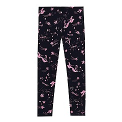 bluezoo - 'Girls' navy unicorn constellation print leggings
