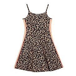 bluezoo - 'Girls' multi-coloured animal print skater dress