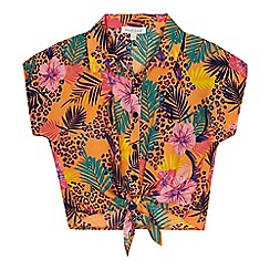 bluezoo - 'Girls' multi-coloured tropical print blouse