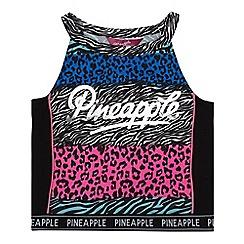 Pineapple - Girls' multicoloured animal print crop top