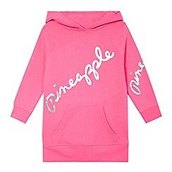 Pineapple - 'Girls' pink logo print hoodie