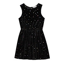 bluezoo - Girls' Multicoloured Star Embroidered Dress