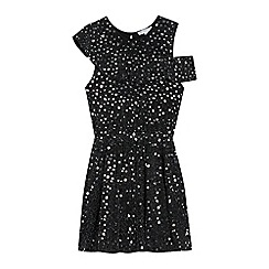 bluezoo - Girls' Black Star Embellished Dress