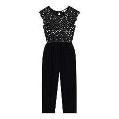 bluezoo - Girls' Black Star Embellished Jumpsuit