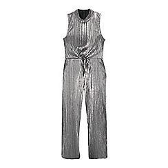 bluezoo - Girls' silver plisse jumpsuit