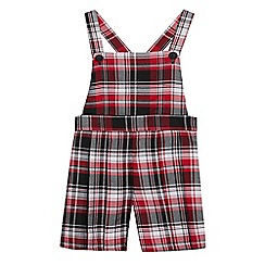 bluezoo - Girls' red checked pinafore playsuit