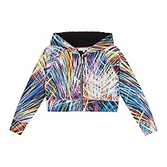 bluezoo - Girls' multicoloured fireworks print hoodie