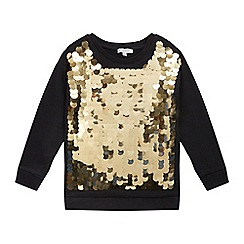 bluezoo - Girls' black sequinned sweater