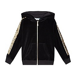 bluezoo - Girls' black sequinned velour sweater