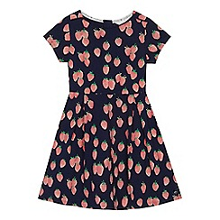 J by Jasper Conran - 'Girls' navy strawberry print jersey dress